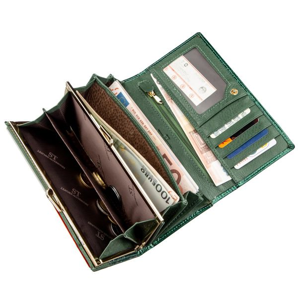 Современный женский кошелек ST Leather 18902 зеленый