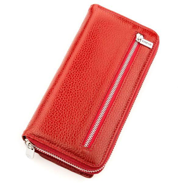 Кошелек женский KARYA 17250 кожаный красный