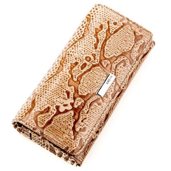 Кошелек женский KARYA 17263 кожаный светло-коричневый