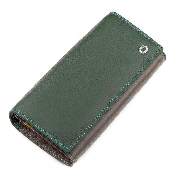 Кошелек женский ST Leather 18388 (SB237) нарядный зеленый