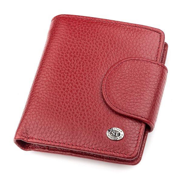 Кошелек женский ST Leather 18499 (ST415) небольшой красный