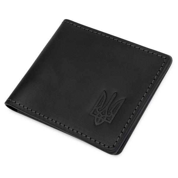 Кожаная матовая обложка для удостоверения GRANDE PELLE 11525 черный