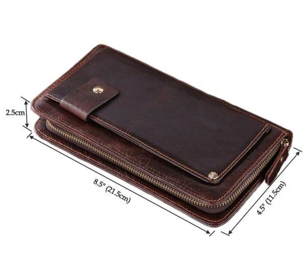 Кожаная мужская барсетка Vintage 14193 коричневая