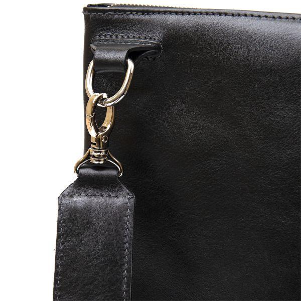 Кожаная мужская сумка для ноутбука GRANDE PELLE 11437 черный