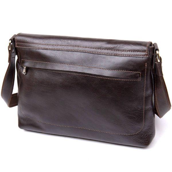 Кожаная мужская сумка GRANDE PELLE 11430 коричневый