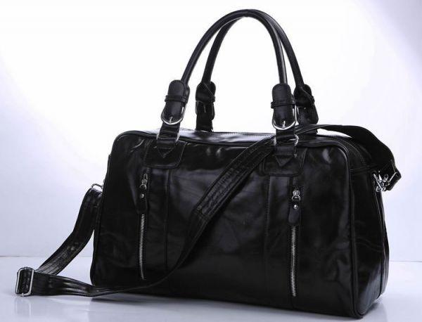Сумка дорожная Vintage 14135 кожаная черная