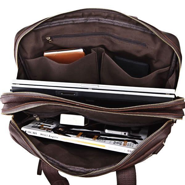 Сумка мужская Vintage 14136 для ноутбука коричневая