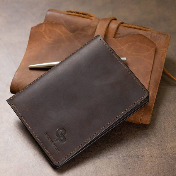 Кожаная винтажная обложка для документов GRANDE PELLE 11537 коричневый
