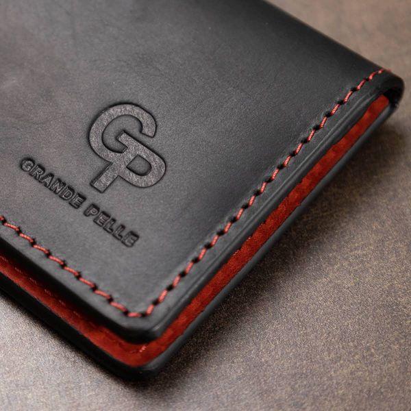 Кожаная винтажная обложка для прав GRANDE PELLE 11535 черный