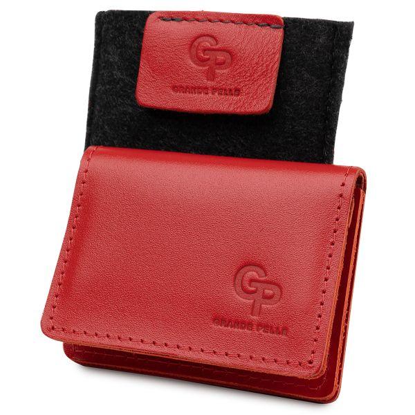 Кожаная женская обложка для автодокументов GRANDE PELLE 11402 красный
