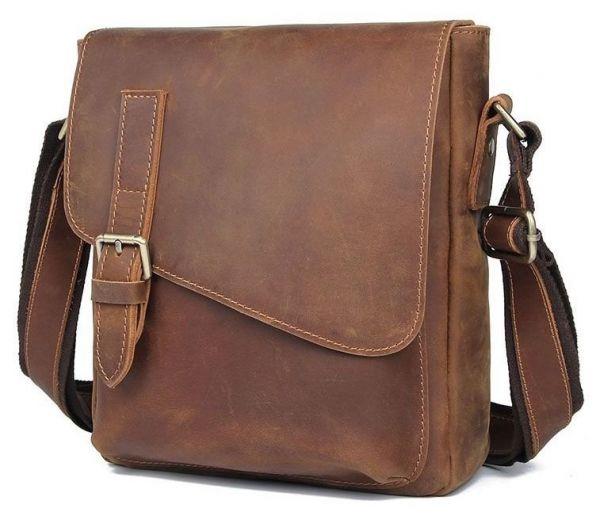 Кожаная мужская сумка Vintage 20206 коричневый