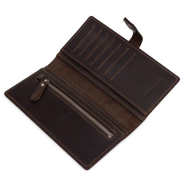 Кожаное мужское матовое портмоне GRANDE PELLE 11515 Коричневый