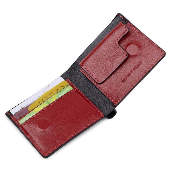 Кожаное стильное портмоне GRANDE PELLE 11551 Черный