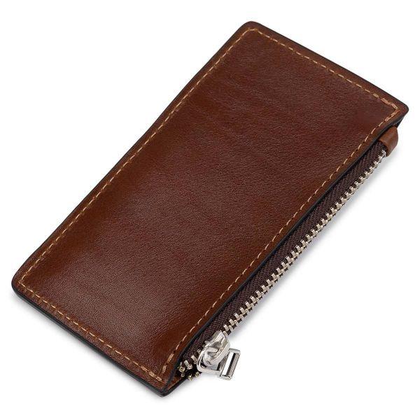 Кожаный мужской картхолдер GRANDE PELLE 11400 Коричневый