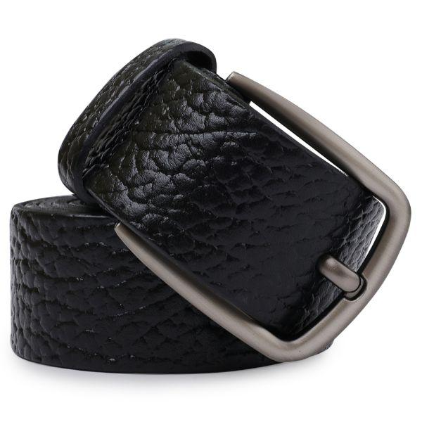 Кожаный мужской ремень Vintage 20740 черный