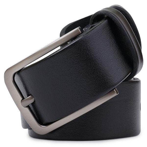 Кожаный ремень для мужчин Vintage 20721 черный