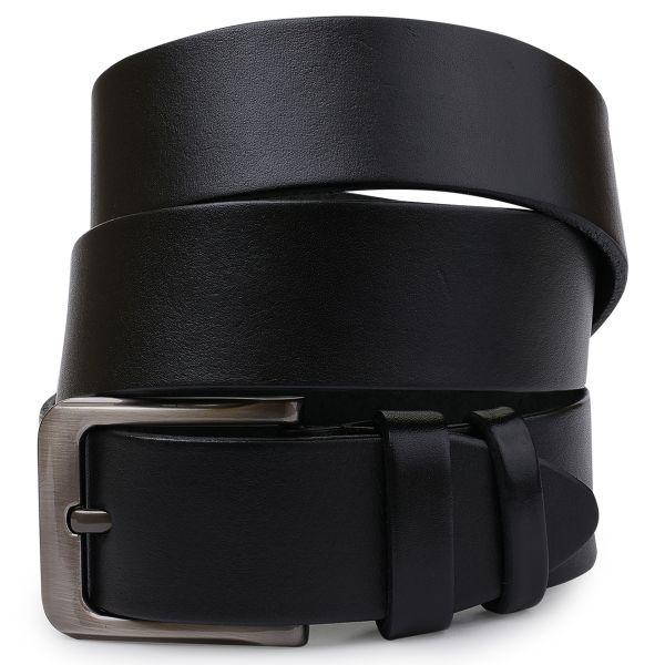 Кожаный стильный мужской ремень Vintage 20745 Черный