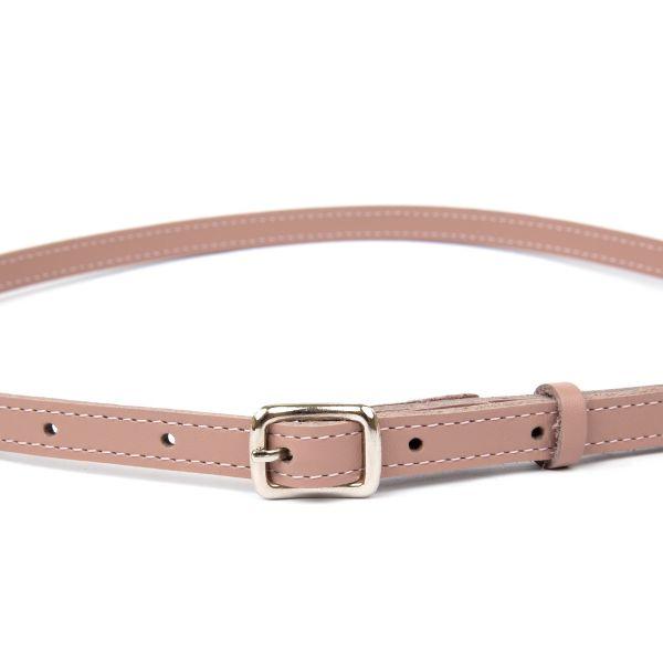 Кожаный тонкий женский ремень GRANDE PELLE 11372 розовый