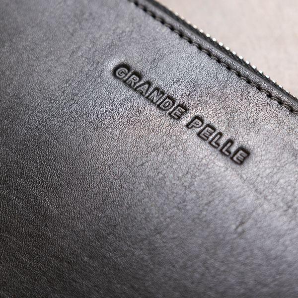 Кожаный женский кошелек на молнии GRANDE PELLE 11562 черный