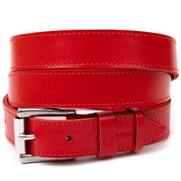 Кожаный женский ремень GRANDE PELLE 11375 красный