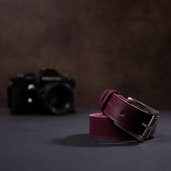 Кожаный женский ремень GRANDE PELLE 11377 бордовый