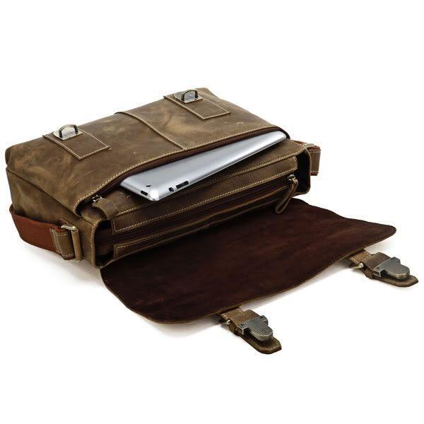 Сумка мужская Vintage 14083 через плечо коричневая