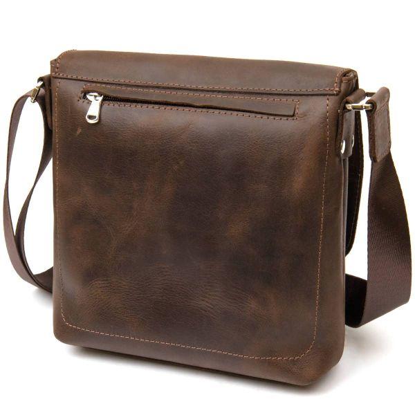 Мужская сумка-мессенджер GRANDE PELLE 11432 коричневый