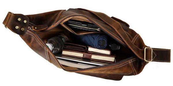 Мужская винтажная сумка через плечо Vintage 14782 коричневая