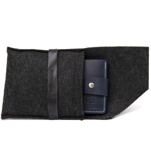 Мужское портмоне из натуральной кожи GRANDE PELLE 11461 темно-синий