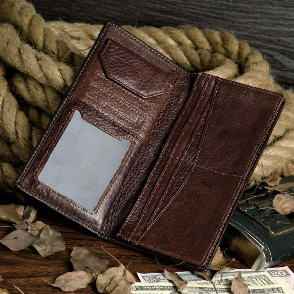 Бумажник мужской Vintage 14174 коричневый