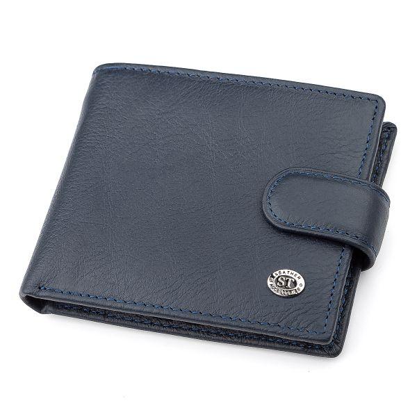 Мужской бумажник ST Leather 18306 (ST104) натуральная кожа синий