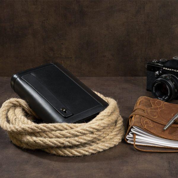 Мужской клатч-барсетка с ремешком на руку Vintage 14657 черный
