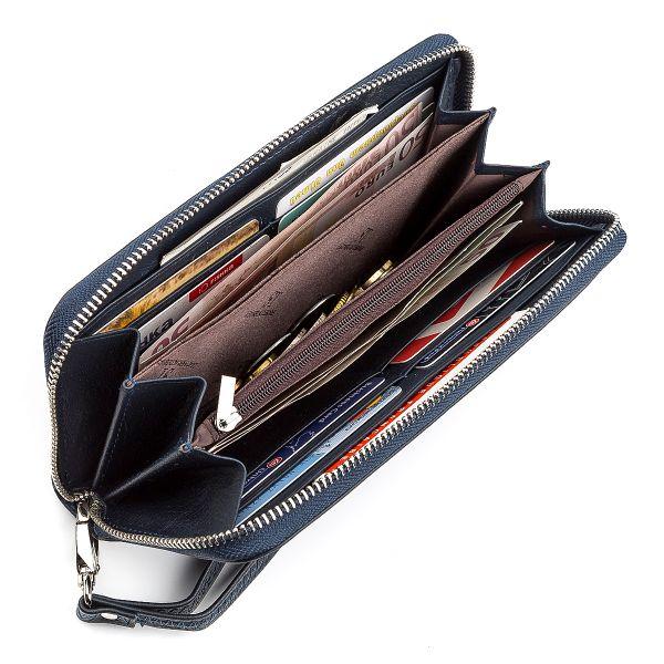 Мужской кошелек ST Leather 18420 (ST45) на молнии синий