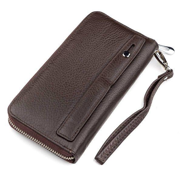 Мужской кошелек ST Leather 18421 (ST45) кожаный коричневый