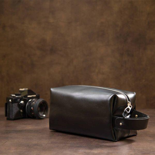 Мужской кожаный несессер GRANDE PELLE 11417 черный