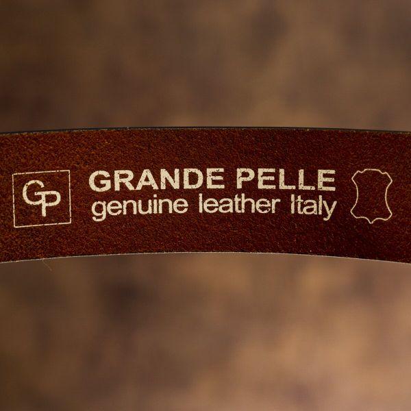 Мужской ремень Grande Pelle 20094 коричневый