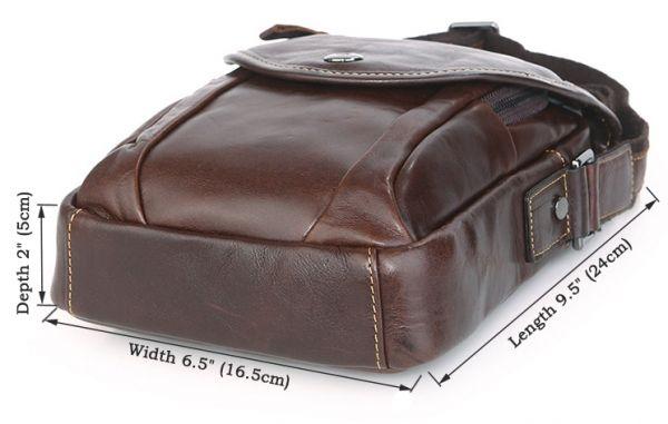 Сумка мужская Vintage 14388 коричневая