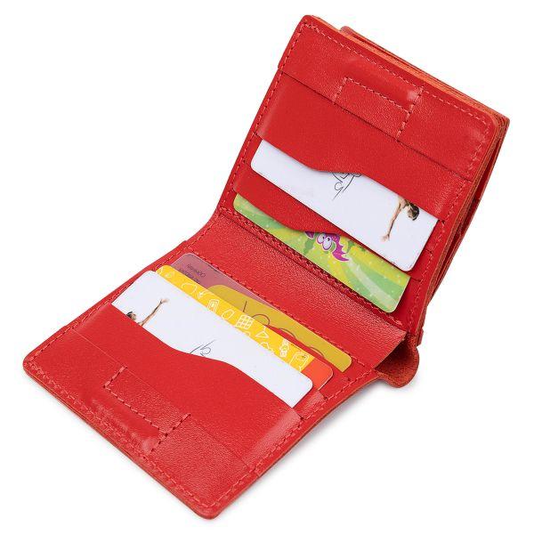 Небольшое женское портмоне GRANDE PELLE 11565 Красный