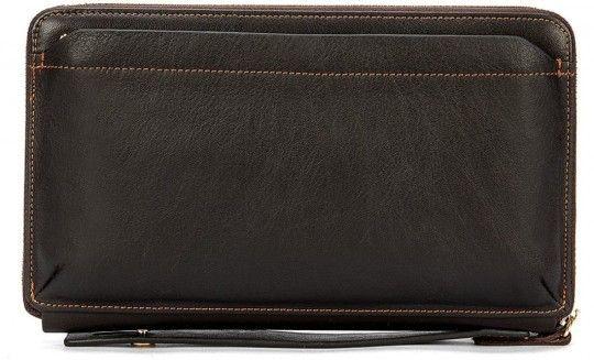Мужской клатч-барсетка с ремешком на руку Vintage 14655 коричневый