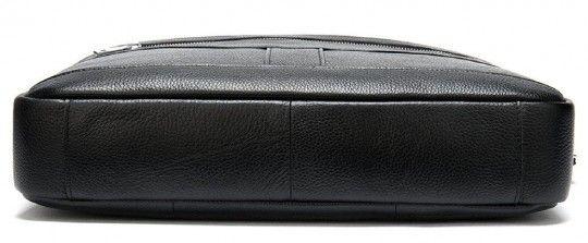 Ділова чоловіча сумка із зернистої шкіри Vintage 14886 чорна