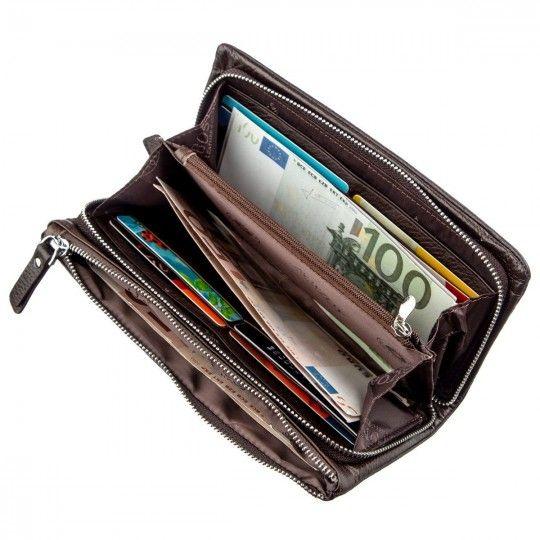 Жіночий вертикальний гаманець-клатч Boston 18800 коричневий