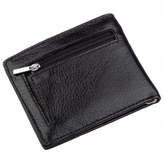 Компактный мужской кошелек с зажимом ST Leather 18837 черный