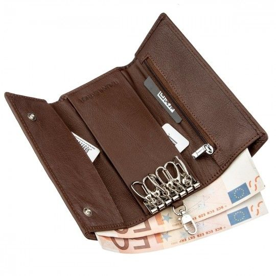 Чоловічий універсальний гаманець з ключницею ST Leather 18840 коричневий
