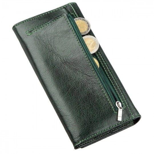 Витончений жіночий гаманець ST Leather 18857 зелений