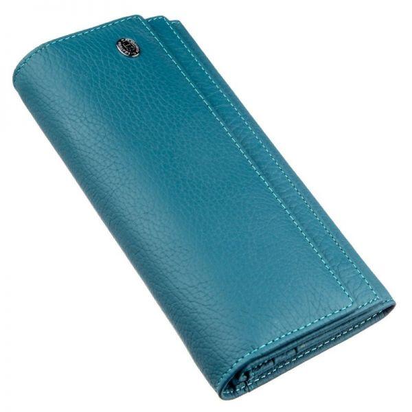Женский кошелек из визитницей и монетницею ST Leather 18953 голубая