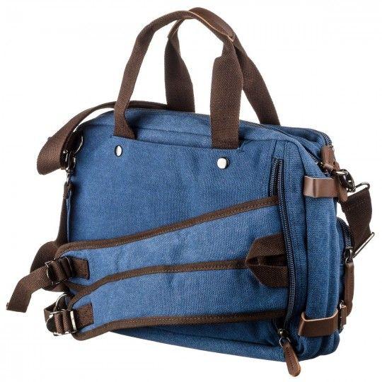 Сумка-трансофрмер текстильная Vintage 20147 синий