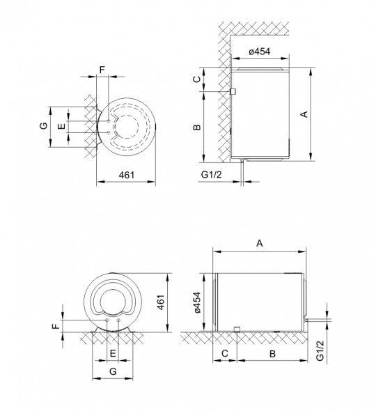 Водонагрівач накопичувальний Gorenje GBF 120 SMV9