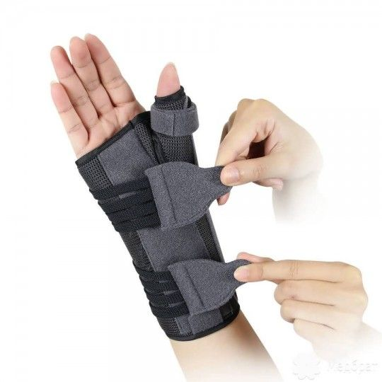 Бандаж для лучезапястного сустава и большого пальца с анатомическими шинами EH-404 правый Ortop