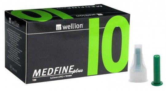 Голки для інсулінових шприц-ручек Wellion MEDFINE plus 0,30 мм (30G) x 10 мм, 100 шт