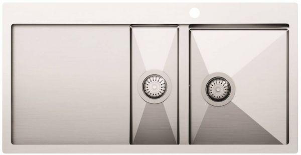 Кухонная мойка из нержавейки AquaSanita LUNA LUN151M-R